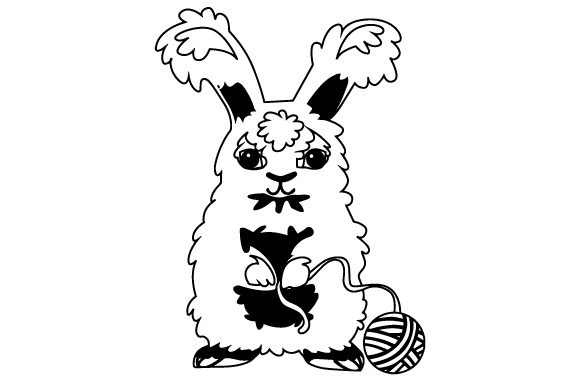 Download Free Angora Rabbit Standing And Holding Yarn Svg Cut File By Creative for Cricut Explore, Silhouette and other cutting machines.