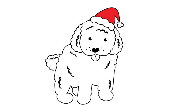 Christmas Poodle Christmas Craft Cut File By Creative Fabrica Crafts