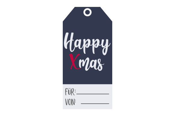 Download Free Geschenkanhanger Happy Xmas Svg Cut File By Creative Fabrica for Cricut Explore, Silhouette and other cutting machines.