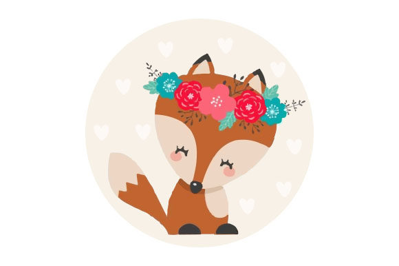 Cute Fox Craft Design von Creative Fabrica Crafts