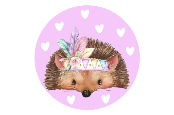 Cute Hedgehog Craft Design Por Creative Fabrica Crafts
