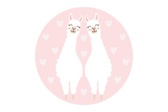 Cute Llamas Craft Design By Creative Fabrica Crafts