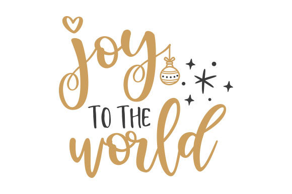Joy to the World Weihnachten Plotterdatei von Creative Fabrica Crafts