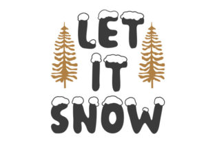 Let It Snow Craft Design Por Creative Fabrica Crafts