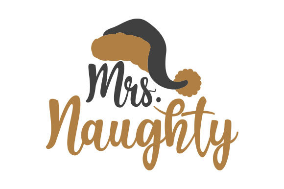 Mrs Naughty Weihnachten Plotterdatei von Creative Fabrica Crafts