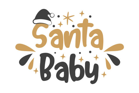 Santa Baby Craft Design von Creative Fabrica Crafts
