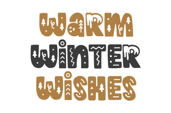Warm Winter Wishes Navidad Archivo de Corte Craft Por Creative Fabrica Crafts