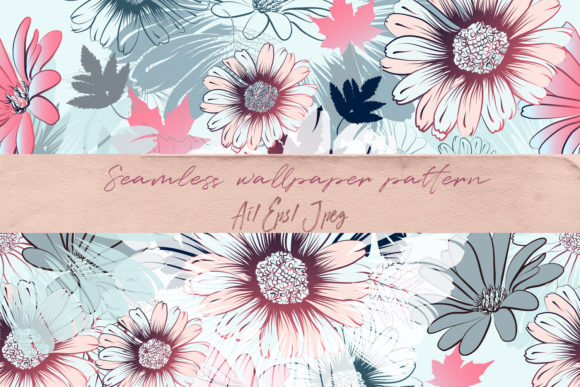 Floral Vector Pattern with Drawn Flowers Graphic By fleurartmariia