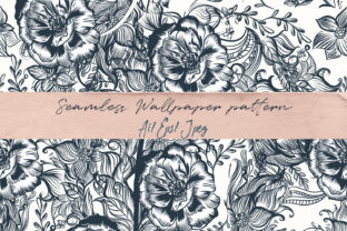 Download Free Beautiful Floral Swirl Pattern Vintage Graphic By Fleurartmariia for Cricut Explore, Silhouette and other cutting machines.