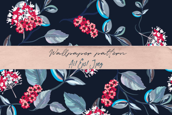 Floral Vector Pattern with Flowers Graphic By fleurartmariia