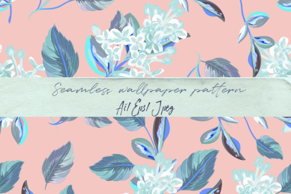 Beautiful Floral Vector Pattern Flowers Graphic By fleurartmariia