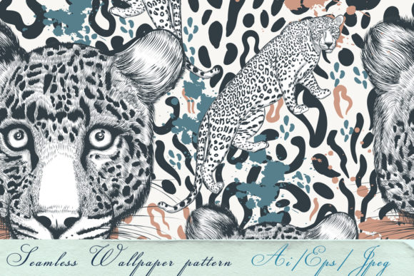 Animal Vector Print with Leopard Skin Graphic Patterns By fleurartmariia
