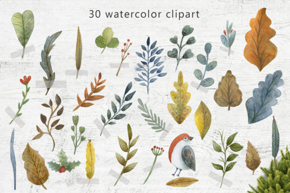 Print on Demand: Merry Christmas Watercolor Set Graphic Illustrations By By Anna Sokol - Image 3