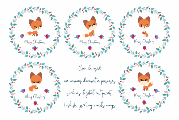 Print on Demand: Cute Fox Cutting and Printable Files Graphic Crafts By Olga Belova - Image 2