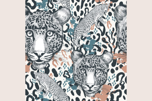Animal Vector Print with Leopard Skin Graphic Patterns By fleurartmariia - Image 2