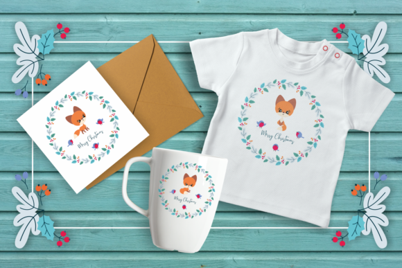 Print on Demand: Cute Fox Cutting and Printable Files Graphic Crafts By Olga Belova - Image 3