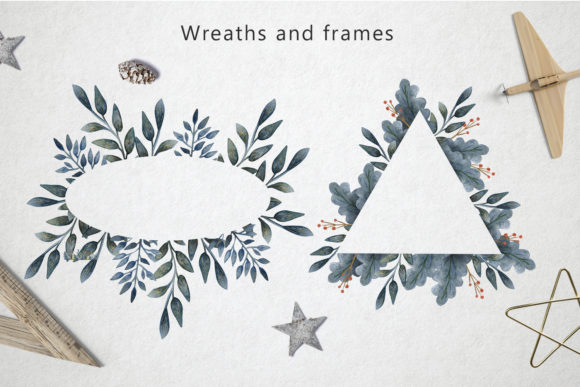 Print on Demand: Merry Christmas Watercolor Set Graphic Illustrations By By Anna Sokol - Image 4