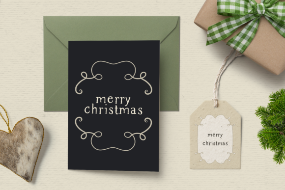 Print on Demand: Rustic Dreams Christmas Frames Graphic Illustrations By Wallifyer - Image 3