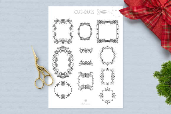 Print on Demand: Holiday Spirit Digital Stamps Graphic Illustrations By Wallifyer - Image 3