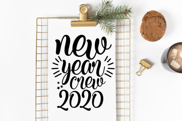 Print on Demand: New Year SVG Bundle Graphic Print Templates By DesignSmile - Image 4