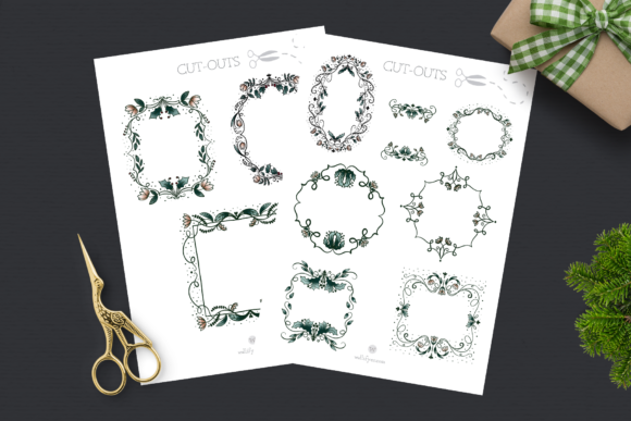 Print on Demand: Vintage Dreams Christmas Clipart Graphic Illustrations By Wallifyer - Image 3