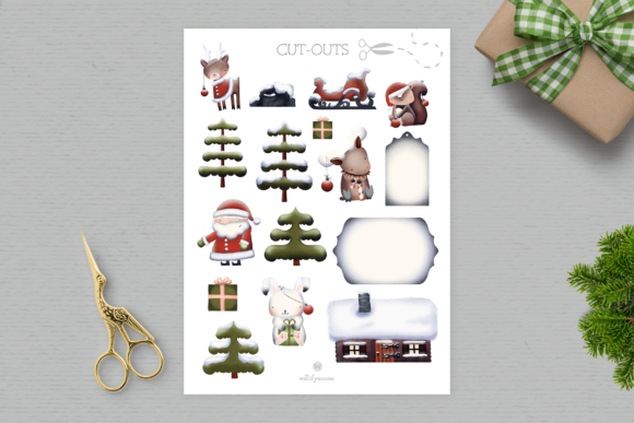 Print on Demand: Santa's Friends Christmas Clipart Graphic Illustrations By Wallifyer - Image 3