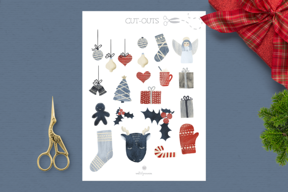 Print on Demand: Nordic Nights Christmas Clipart Graphic Illustrations By Wallifyer - Image 3