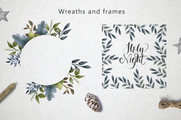Print on Demand: Merry Christmas Watercolor Set Graphic Illustrations By By Anna Sokol - Image 5