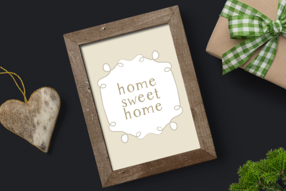 Print on Demand: Rustic Dreams Christmas Frames Graphic Illustrations By Wallifyer - Image 4