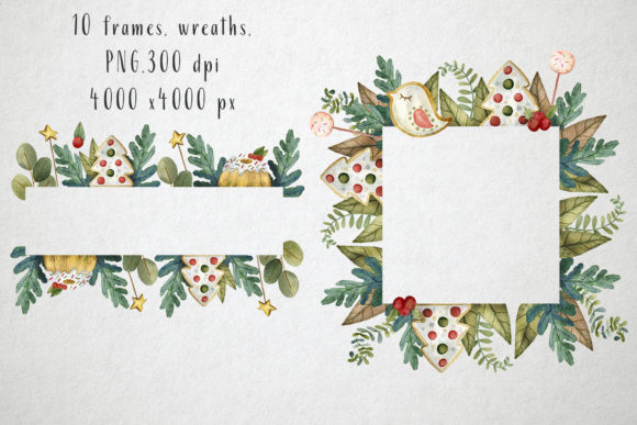 Print on Demand: Sweet Christmas Watercolor Set Graphic Illustrations By By Anna Sokol - Image 4