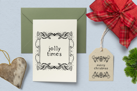 Print on Demand: Holiday Spirit Digital Stamps Graphic Illustrations By Wallifyer - Image 4