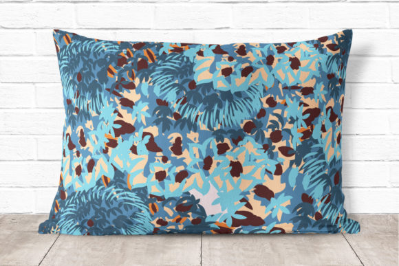 Abstract Floral Pattern in Blue Color Graphic Patterns By fleurartmariia - Image 4