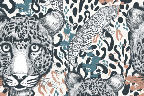Animal Vector Print with Leopard Skin Graphic Patterns By fleurartmariia - Image 4