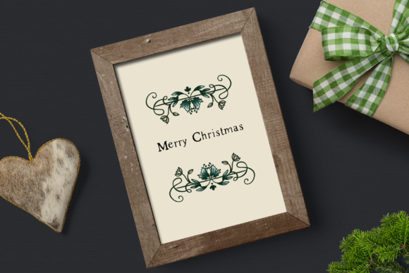 Print on Demand: Vintage Dreams Christmas Clipart Graphic Illustrations By Wallifyer - Image 5