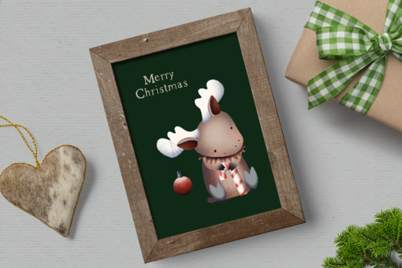Print on Demand: Santa's Friends Christmas Clipart Graphic Illustrations By Wallifyer - Image 5