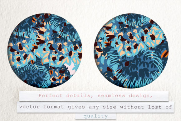 Abstract Floral Pattern in Blue Color Graphic Patterns By fleurartmariia - Image 5