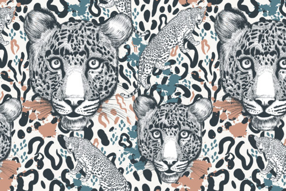 Animal Vector Print with Leopard Skin Graphic Patterns By fleurartmariia - Image 5