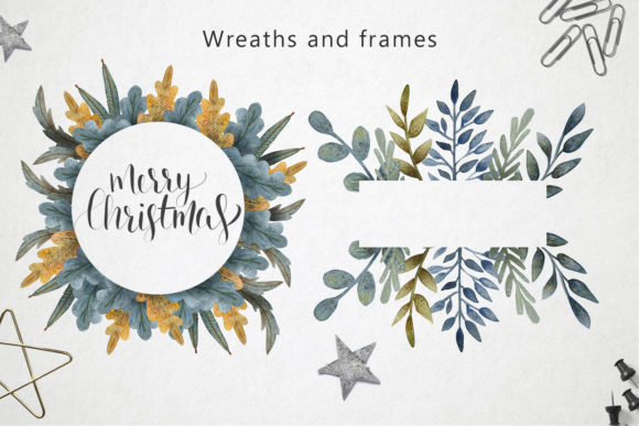 Print on Demand: Merry Christmas Watercolor Set Graphic Illustrations By By Anna Sokol - Image 7