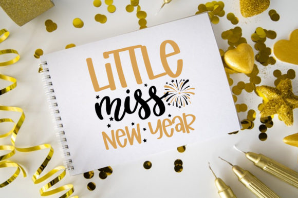 Print on Demand: New Year SVG Bundle Graphic Print Templates By DesignSmile - Image 7