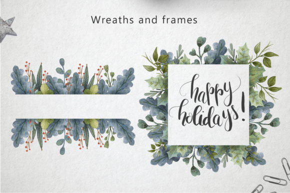 Print on Demand: Merry Christmas Watercolor Set Graphic Illustrations By By Anna Sokol - Image 8