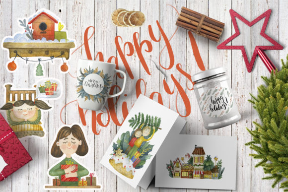 Print on Demand: Merry Christmas Watercolor Set Graphic Illustrations By By Anna Sokol - Image 2