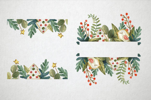 Print on Demand: Sweet Christmas Watercolor Set Graphic Illustrations By By Anna Sokol - Image 7