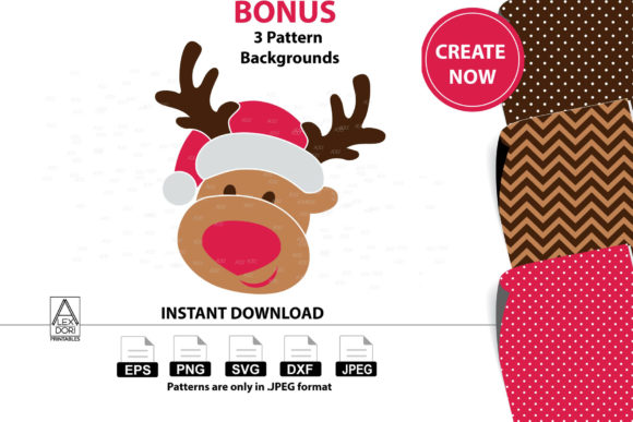 Boy Reindeer Clipart Christmas Deer Graphic By adlydigital