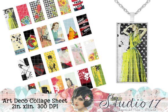 Print on Demand: Art Deco Collage Sheet Graphic Crafts By Studio 17 Designs