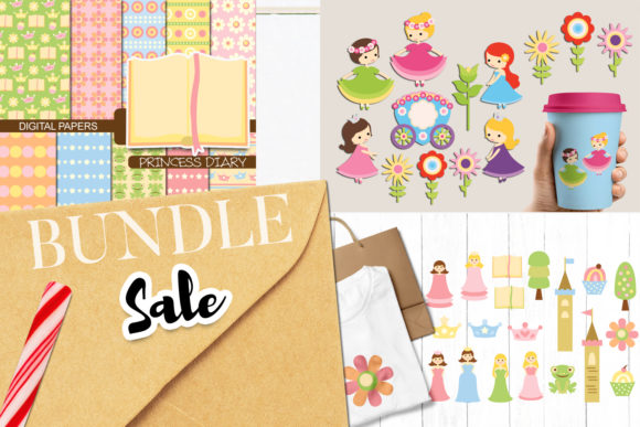 Print on Demand: Spring Princess Bundle Graphic Illustrations By Revidevi