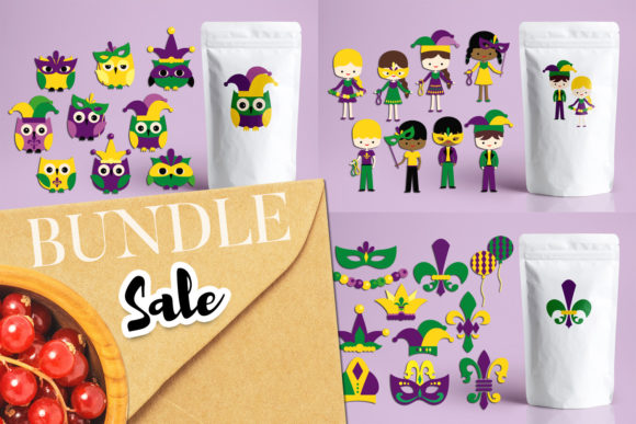 Print on Demand: Mardi Gras Bundle Graphic Illustrations By Revidevi