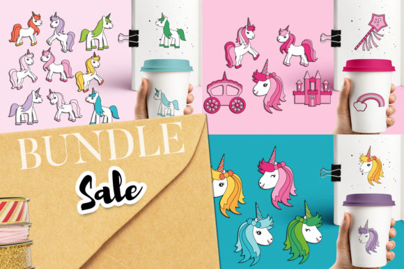Print on Demand: Unicorn Bundle Graphic Illustrations By Revidevi