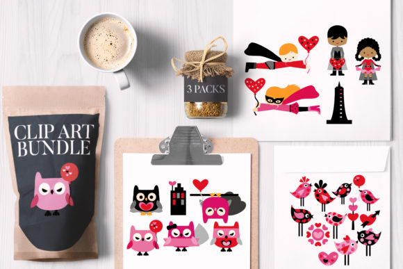 Print on Demand: Valentine Bundle Graphic Illustrations By Revidevi