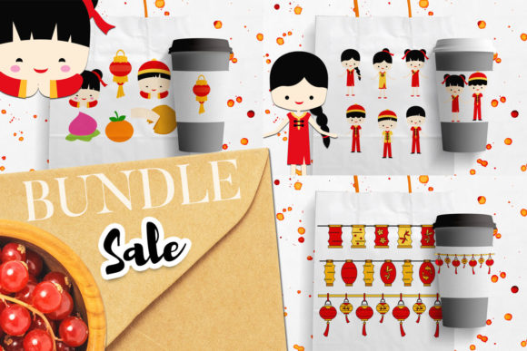 Print on Demand: Chinese New Year Bundle Graphic Illustrations By Revidevi
