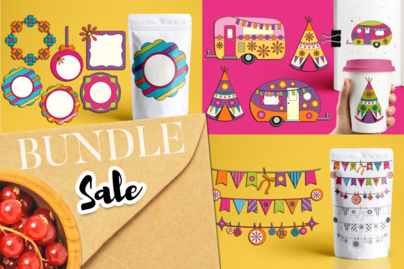 Print on Demand: Spring Camping Bundle Graphic Illustrations By Revidevi